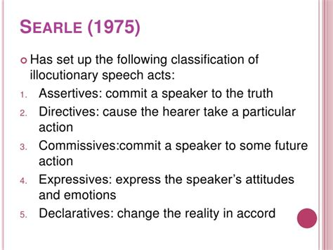 Searle 1969 Speech Acts An Essay In The Philosophy Of Language by Levels Of Speech Act