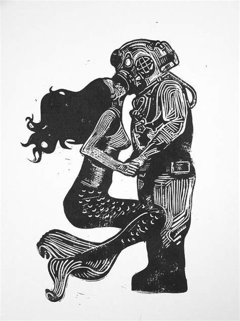imgs for gt vintage scuba diver drawing land ahoy