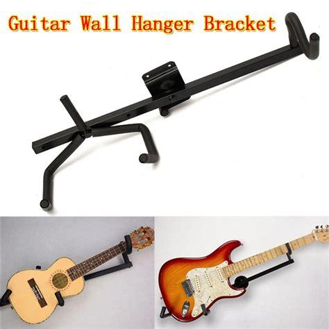 End Pind Hanger Gitar Black horizontal guitar wall hanger bracket electric ukulele and