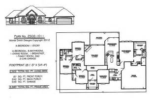 One Story 4 Bedroom House Plans by 4 Bedroom One Story House Plans Marceladick Com