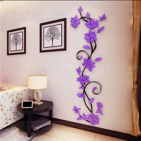home wall decor stickers 3d wall decals for living room p wall decal