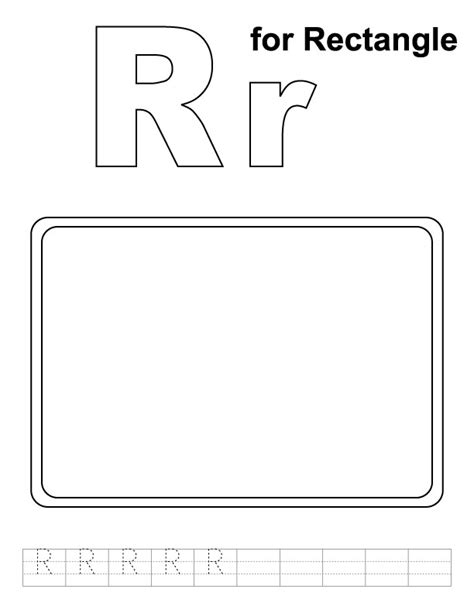 free coloring pages of rectangle shape