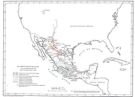 mexico texas map mexican revolution 1910 1920 after the revolution revolts coups and relations
