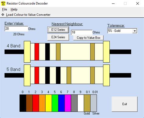 resistor color code calculator 11 best free resistor color code calculator for windows