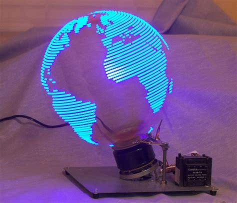 Led Projie rotating led globe hacked gadgets diy tech
