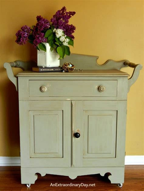 sloan chalk paint transforming a vintage sideboard