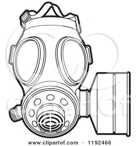 printable gas mask template design a mask free colouring pages