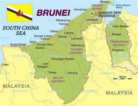 brunei on the world map brunei