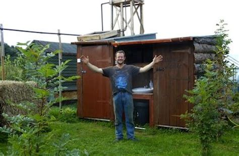 How Does A Solar Shower Work by Build A Compost Toilet Solar Shower From
