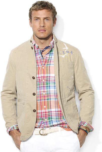 polo ralph lauren artisan cotton twill sport coat  beige
