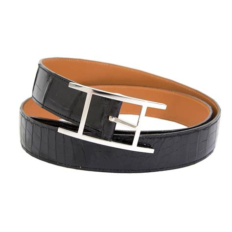 The Belts by Herm 232 S Black Quentin Crocodile Belt For Sale At 1stdibs