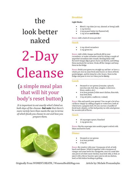 2 Day Detox Plan Health Aide by 2 Day Diet Cleanse Let S Get Physical