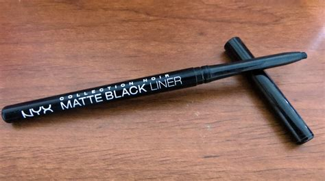 Nyx Black Label 24 Hours Waterproof review nyx collection noir matte black liner slashed