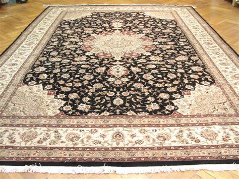 10x14 Rugs Wool by 10x14 Rug Wool Silk Rug Blck Ivry Ebay