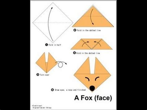 How To Make A Fox Origami - fox origami how to make origami fox free