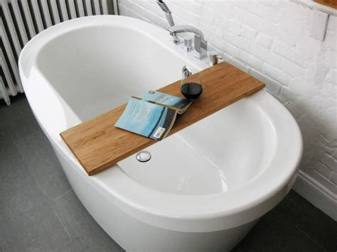 bathtub diy simple diy bathtub trays for reading made from teak wood ideas