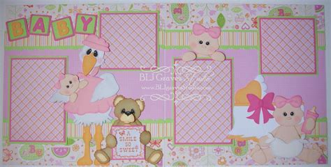 scrapbook layout ideas for baby girl blj graves studio baby girl scrapbook layout