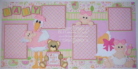 scrapbook layout baby girl blj graves studio baby girl scrapbook layout