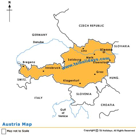 austria map with cities map of austria austria tours austria tour packages