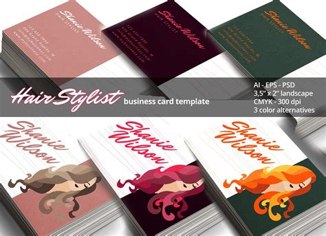 hair stylist business card business card templates