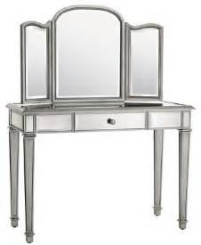 Makeup Vanity With Sliding Mirror Hayworth Mirror Vanity Traditional Bedroom Makeup