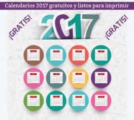 Calendario Para Descargar 2017 Calendarios 2017 Listos Para Descargar E Imprimir Gratis