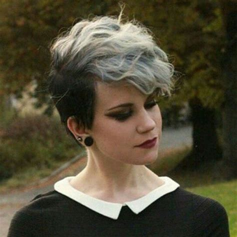 pixie haircuts gray hair long bang pixie cut the best short hairstyles for women 2016