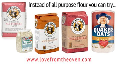 baking substitutions replacing all purpose flour in