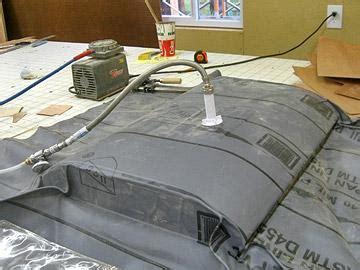 woodworking vacuum press shop made vacuum press bag wood magazine