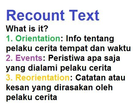 recount text english for pleasure differences between spoof and recount text kursus bahasa