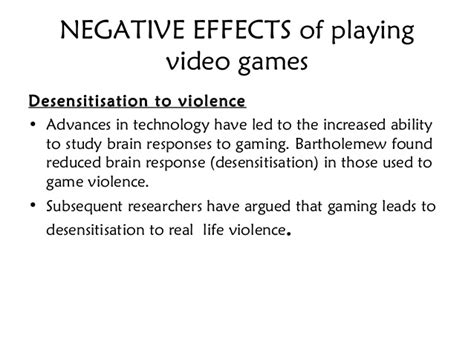 negative themes in literature negative effects video games