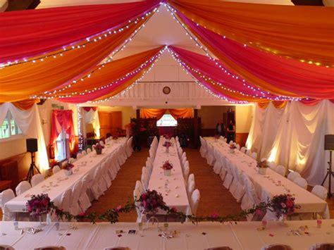 hall draping ideas wedding decorators uk romantic decoration