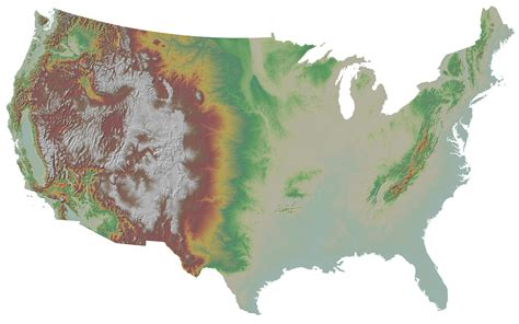 america heightmap united states elevation map