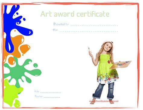 printable art awards art award certificate template free images