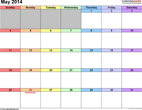 fillable 2014 calendar 1 page calendar template 2016