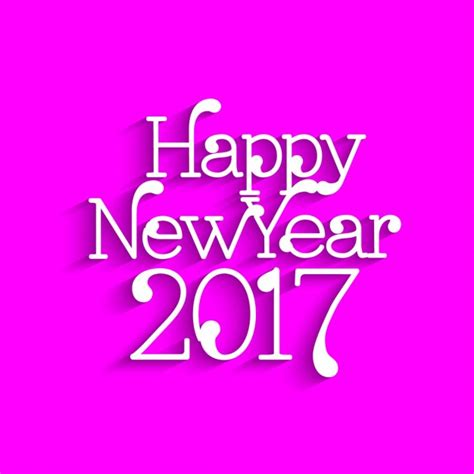 happy new year 2017 text happy new year 2017 text design on pink background vector