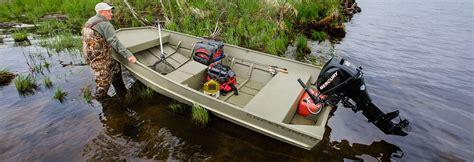 14 x 48 flat bottom boat crestliner cr jons aluminum utility jon boat built for