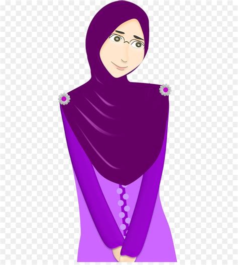 gambar org hijab animasi kumpulan gambar bagus