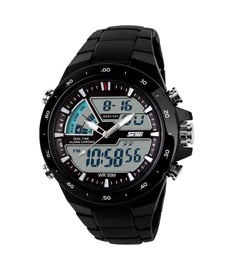 Montre Led Analog Digital Jam Tangan Pria Waterproof skmei trendy casual analog digital ceramic quartz