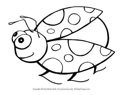 Galerry coloring page of a ladybug
