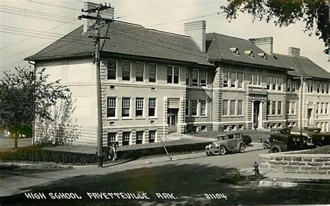 Us Post Office Fayetteville Ar by Arkansas Fayetteville High School 1920 1930s Rppc Real
