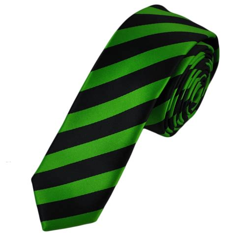 black lime green striped tie from ties planet uk