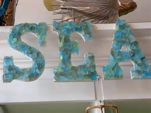 decor seaglass letters sea seashells
