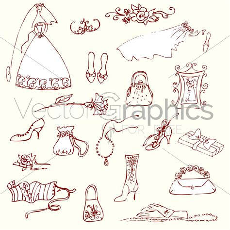 doodle vector wedding doodles vector image