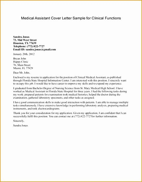 exle of a cover letter for medical assistant 7 resume cover letter free sles exles