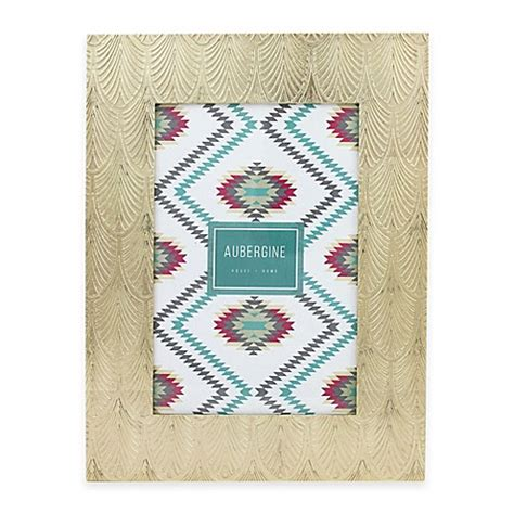 bed bath and beyond tempe aubergine tempe 4 inch x 6 inch frame in gold bed bath beyond