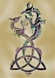 triquetra 2 dragons tattoo design ireland pinterest