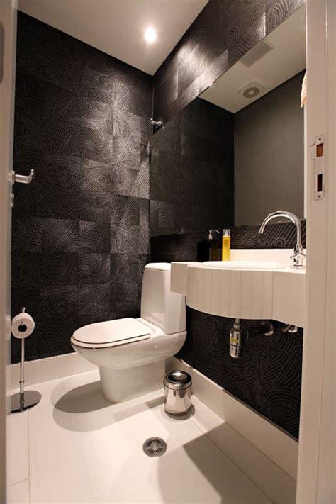 lavabo preto banheiro em preto e branco projeto ambienta arquitetura