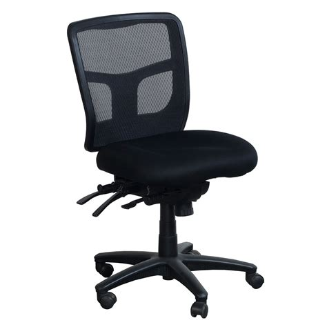 armless task chair office products proline ii used armless mesh back