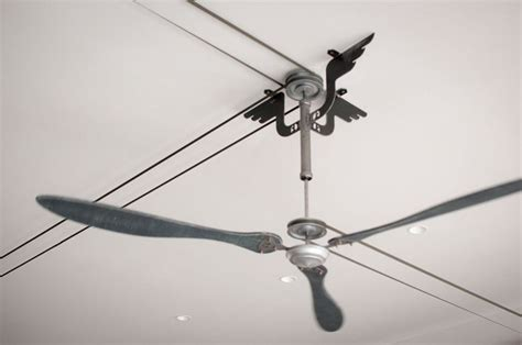 belt powered ceiling fan belt driven ceiling fan ventilator by atrsystems on etsy